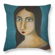 Renaissance Girl Throw Pillow