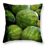 Renaissance Green Watermelon Throw Pillow