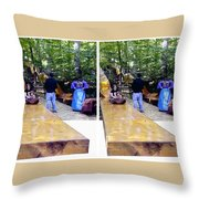 Renaissance Slide - Gently Cross Your Eyes And Focus On The Middle Image Throw Pillow