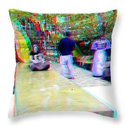 Renaissance Slide - Use Red-cyan 3d Glasses Throw Pillow