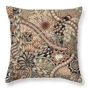 Renaissance Tangle Art Throw Pillow