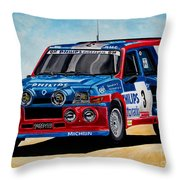 Renault 5 Maxiturbo Throw Pillow