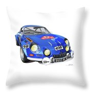 Alpine Renault A110 Throw Pillow