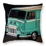 Renault Estafette 1959 Painting Throw Pillow