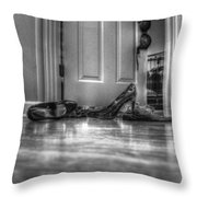 Rendezvous Do Not Disturb 05 Bw Throw Pillow