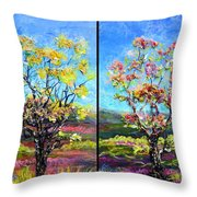 Renew And Refresh Diptych Orientation 2 Throw Pillow
