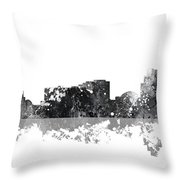 Reno Nevada Skyline Throw Pillow
