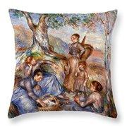 Renoir: Grape Pickers Throw Pillow