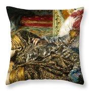 Renoir: Odalisque, 1870 Throw Pillow