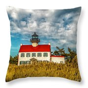 Renovated East Point Lighthouse Throw Pillow