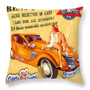 Rent A Car Throw Pillow