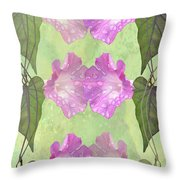 Repeated Morning Glories Throw Pillow