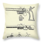Repeating Firearm-1855 Throw Pillow