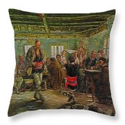 replica of Ruchenitsa by Nikola Tanev Throw Pillow