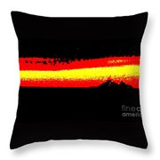 Representational Abstract Sunset Throw Pillow by Eric  Schiabor
