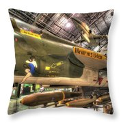 Republic F-105 Thunderchief Throw Pillow