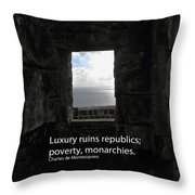 Republics And Monarchies Throw Pillow