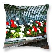 Repurposed Boat Throw Pillow