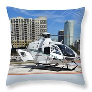 Rescue Helocopter Throw Pillow