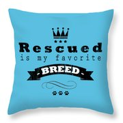 Rescued Crown Dark Throw Pillow