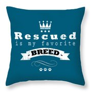 Rescued Crown Light Throw Pillow