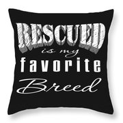 Rescued Pencil Throw Pillow