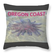 Rescued Sunflower Starfish Throw Pillow
