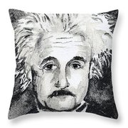 Resemblance To Einstein Throw Pillow
