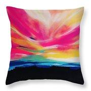 Reservation Sunset Throw Pillow