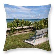 Reserved For A Visitor To East Coast Florida Throw Pillow