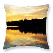 Reservoir Sunset 1 Throw Pillow