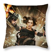 Resident Evil Afterlife Throw Pillow