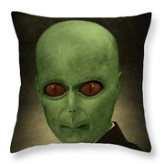 Resident Professor Of Interplanetary Research Area 51 Throw Pillow