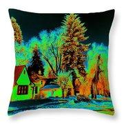 Residential Spokane In Cosmic Winter Throw Pillow
