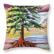 Resilient Cypress Throw Pillow