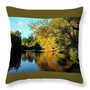 Yamhill River Reflections Throw Pillow