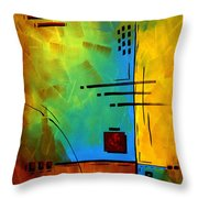 Resonating By Madart Throw Pillow