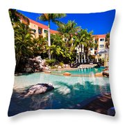 Resort Pool Throw Pillow