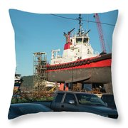 Response In Anacortes Drydock Throw Pillow
