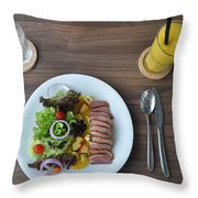 restourant food in Thailand Throw Pillow