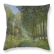 Rest Along The Stream - Edge Of The Wood Throw Pillow