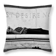 Rest Desire Not Throw Pillow