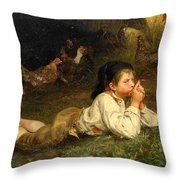 Rest In The Henhouse Throw Pillow