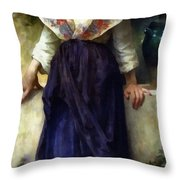 Rest Of A Girl Throw Pillow