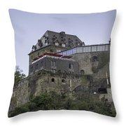 Restaurant At Rheinfels Castle Throw Pillow