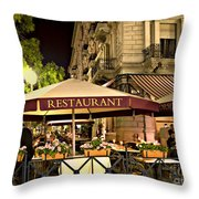 Restaurant In Budapest Throw Pillow