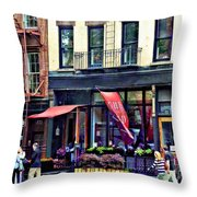 Restaurant In Chelsea Throw Pillow