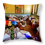 Restaurant In Red Bank 2 Throw Pillow