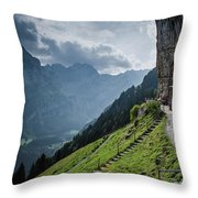 Restaurant In The Sky Throw Pillow