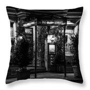 Restaurant Jeanne D'arc Bw Throw Pillow